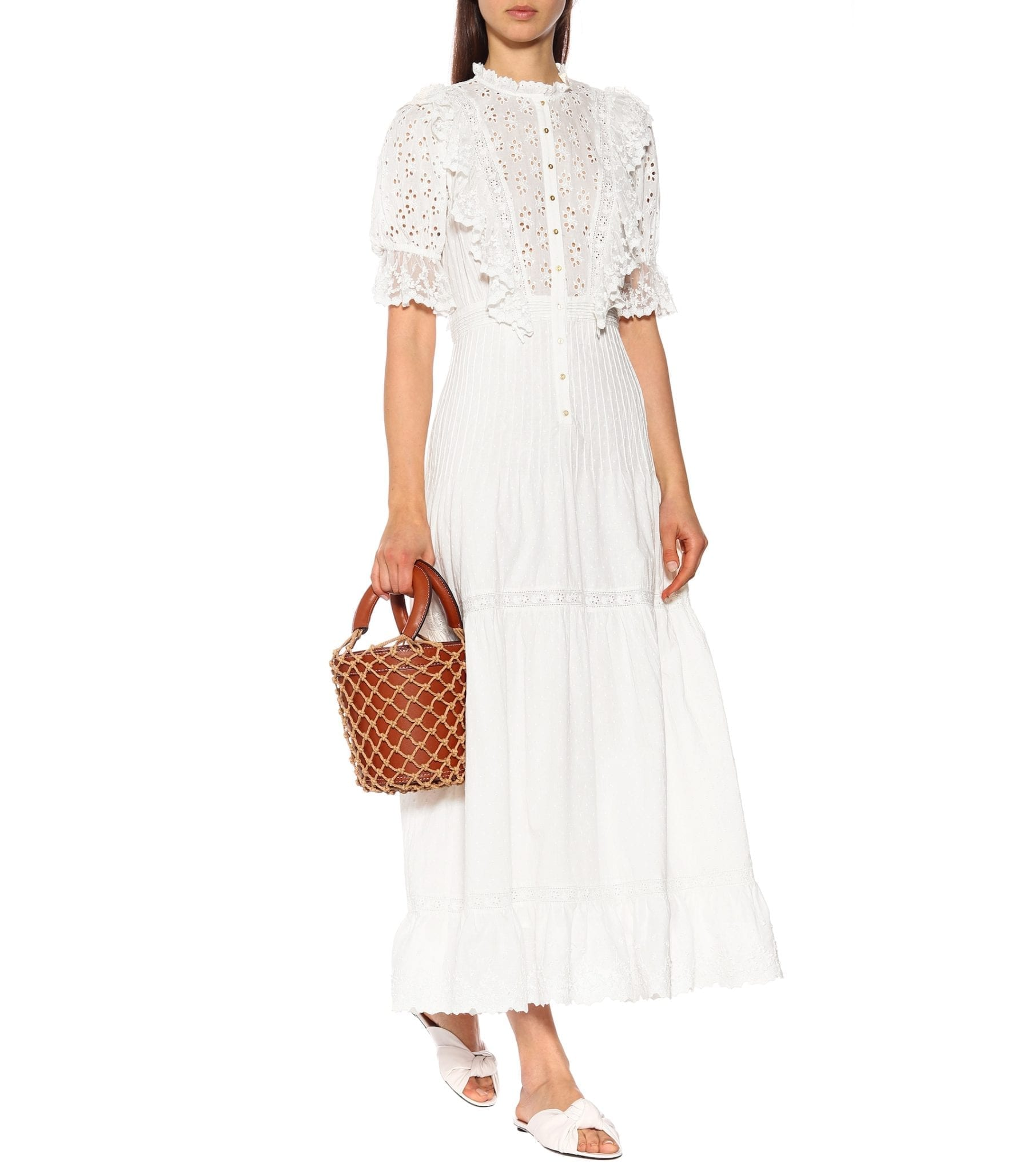 ULLA JOHNSON Halley Cotton White Dress