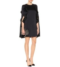VALENTINO Satin Cape Black Dress