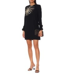 VICTORIA VICTORIA BECKHAM Embellished Mini Black Dress
