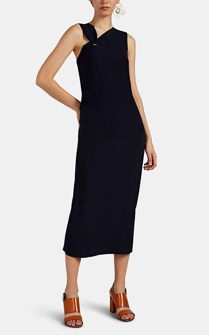 ZERO + MARIA CORNEJO Pia Silk Crepe Midi Black Dress