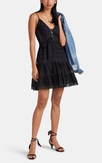 ZIMMERMANN Honour Lace-Trimmed Cotton Fil Coupé Black Dress