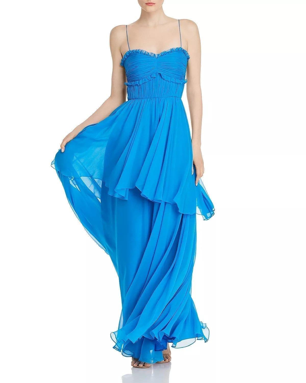 AMUR Kiko Silk Maxi Dress