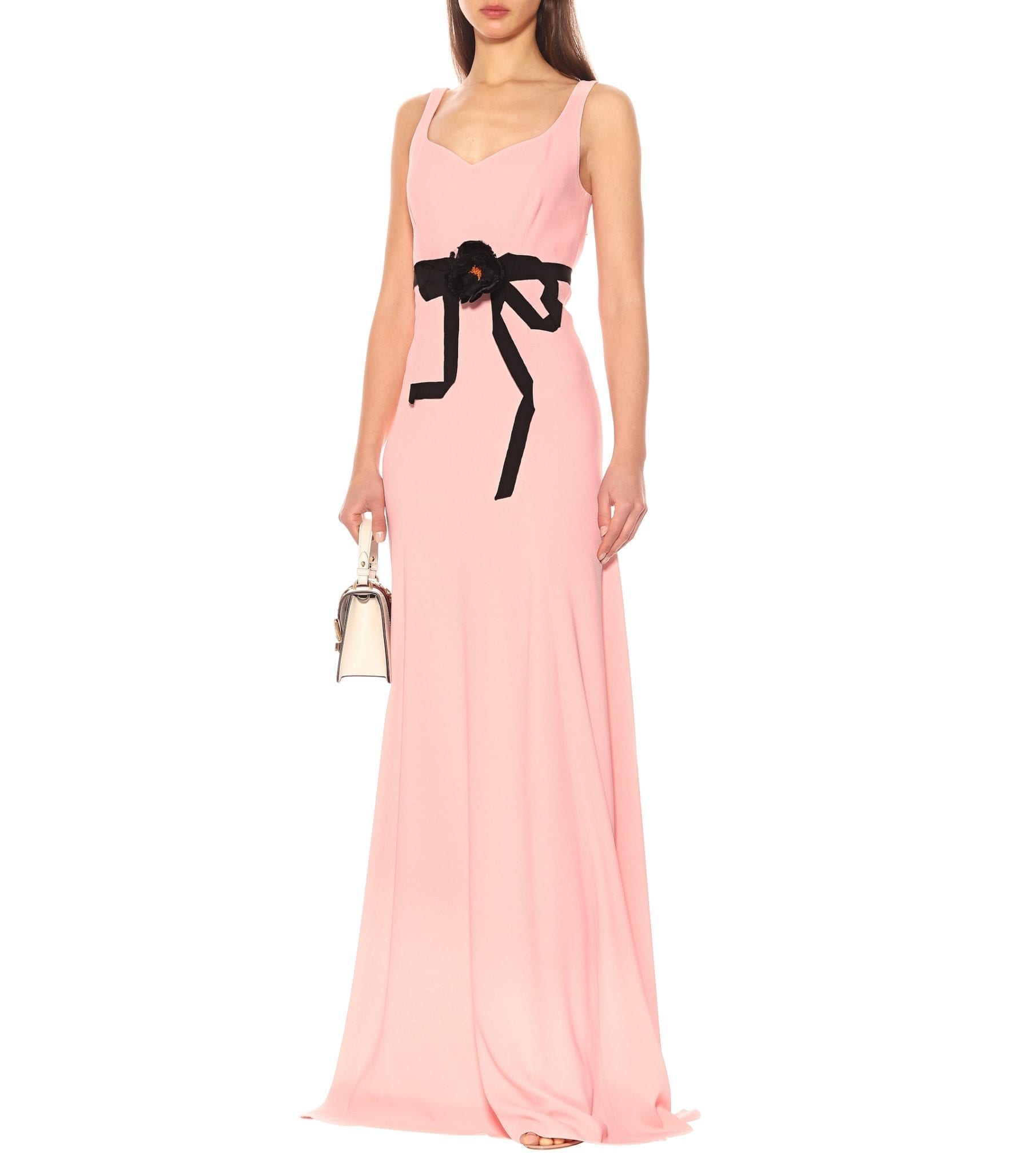 e863b2a9e GUCCI Floral-Embellished Jersey Pink Gown - We Select Dresses