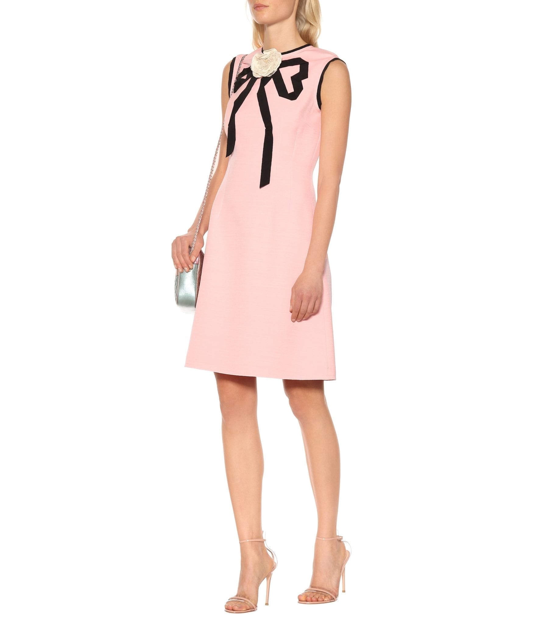 ee4695551 GUCCI Wool And Silk Crêpe Pink Dress - We Select Dresses