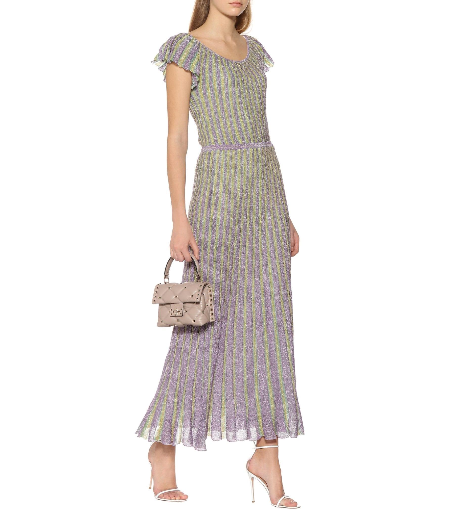 a98af83ba64 MISSONI Striped Lamé Maxi Purple Dress - We Select Dresses
