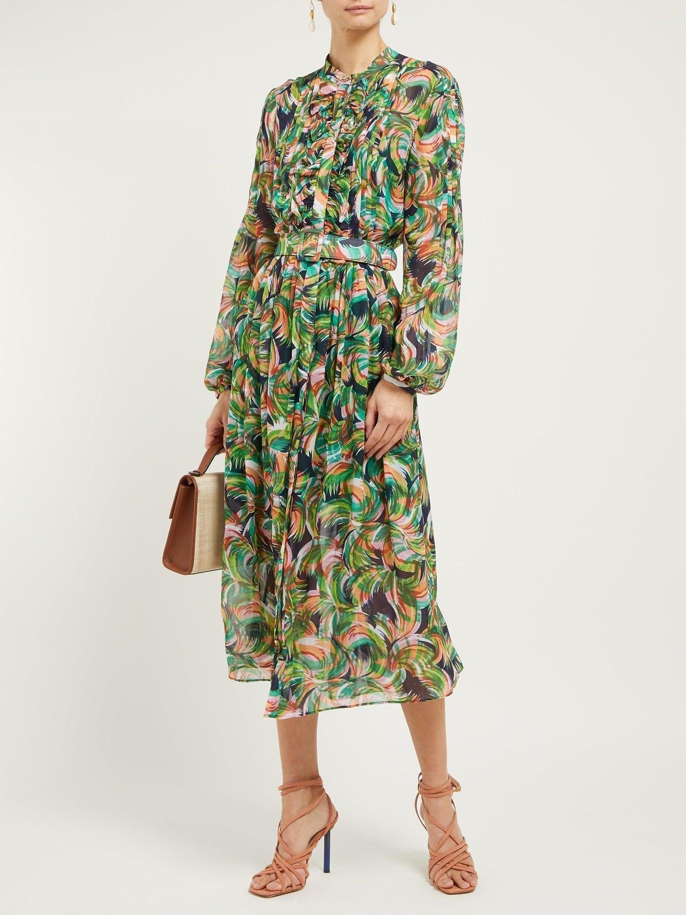 4e90d7359 SALONI Raquel Printed Silk Crepe De Chine Dress - We Select Dresses