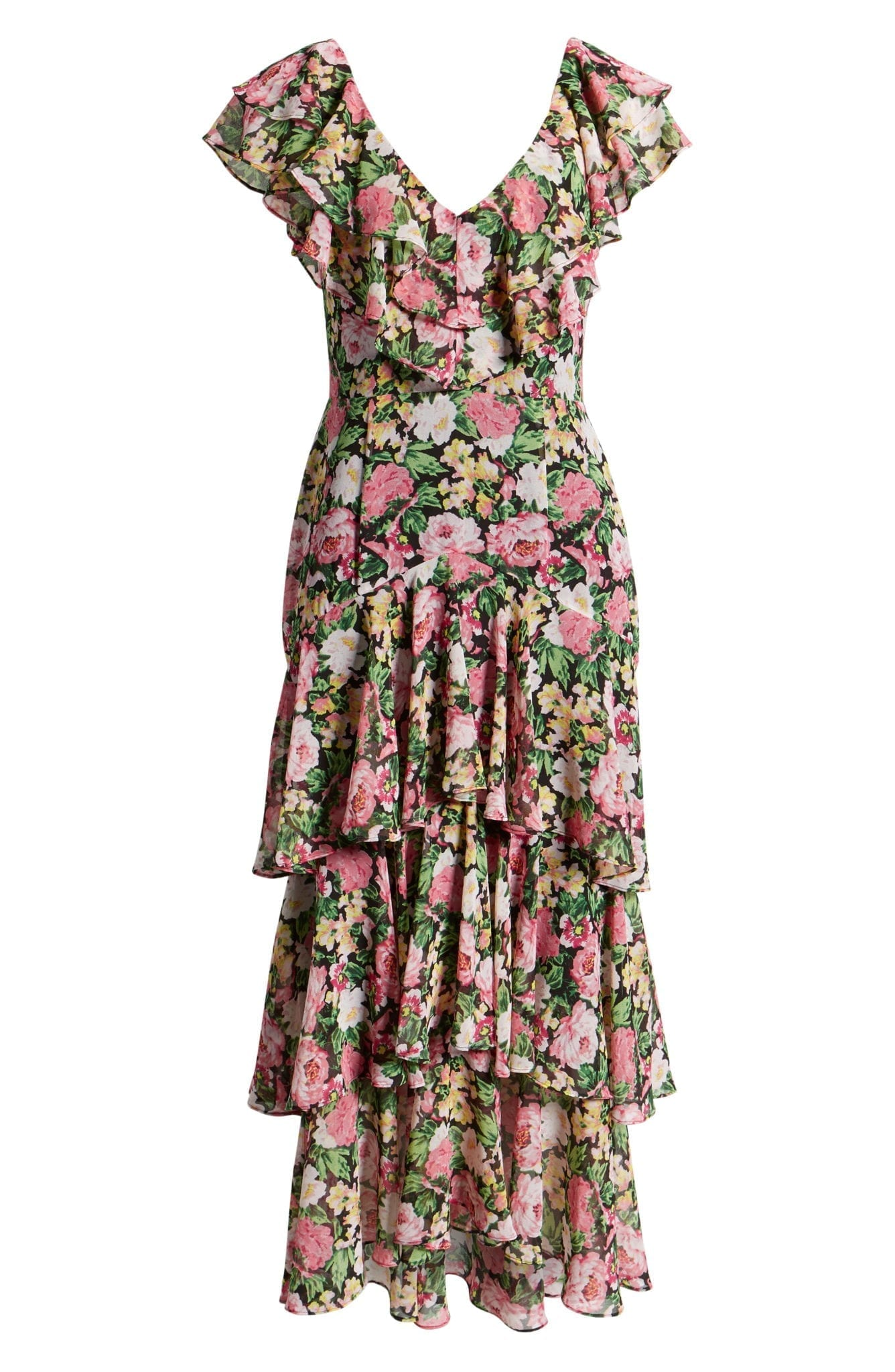 3750ef9a6d0c4 WAYF Chelsea Tiered Ruffle Maxi Black Dress - We Select Dresses