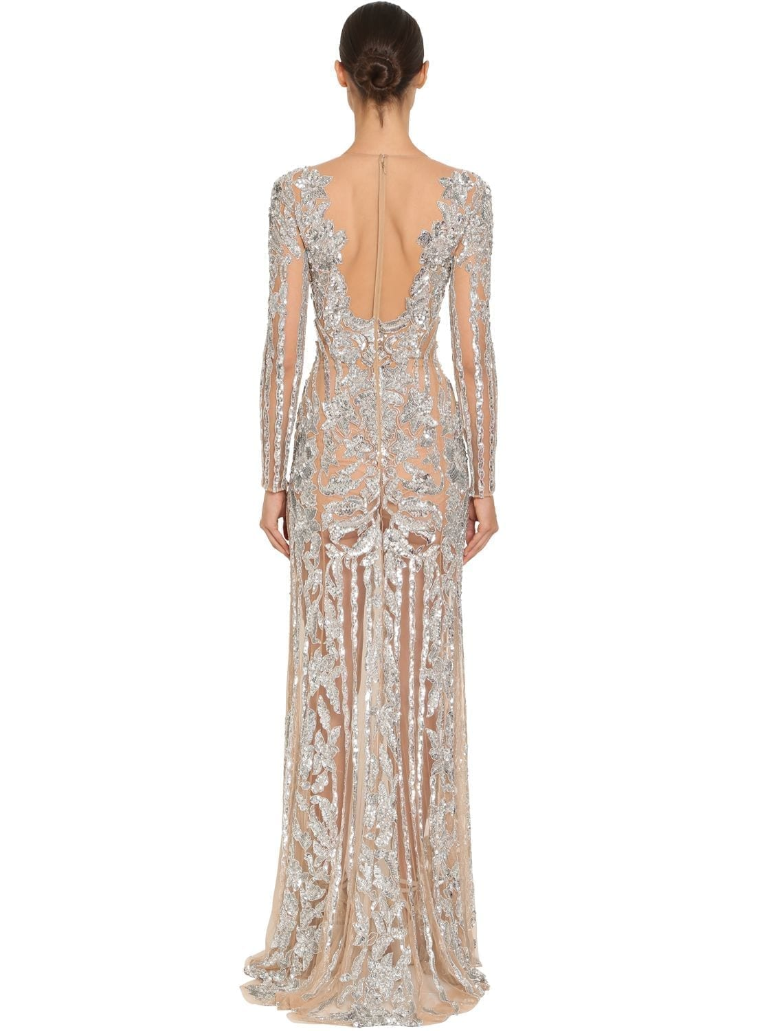dc616f5d65d ZUHAIR MURAD Embroidered Stretch Tulle Dress - We Select Dresses