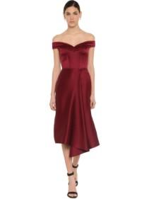 ALEXANDER MCQUEEN Doubled Duchesse Midi Dress