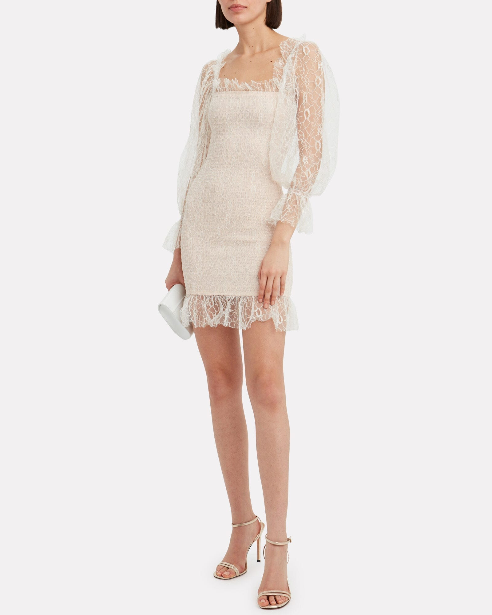 ALICE MCCALL After Dark Lace Mini Dress