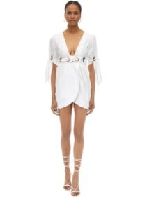 ALICE MCCALL Cotton Poplin Mini Wrap Dress