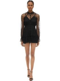 ALICE MCCALL Ruffled Lace Mini Dress