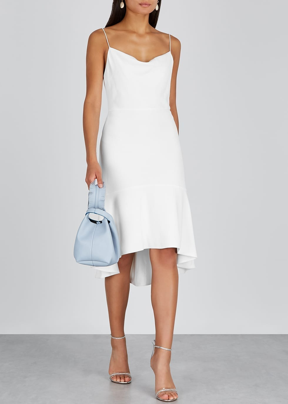 ALICE + OLIVIA Adriana Ivory Crepe Dress