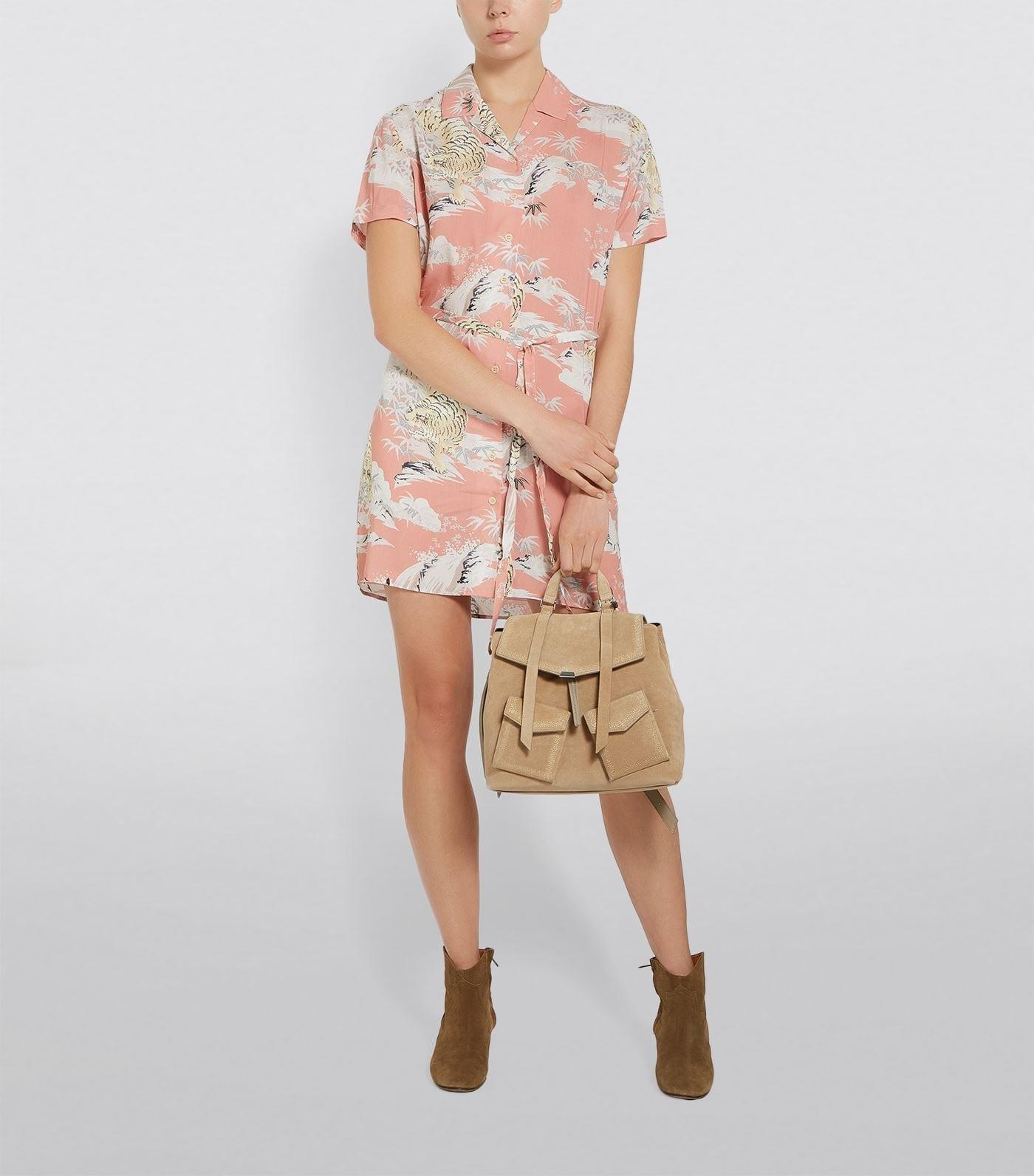 ALLSAINTS Amia Borneo Hawaiian Print Dress