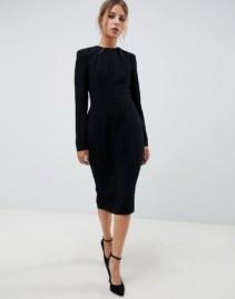 ASOS DESIGN Shoulder Pad Midi Dress