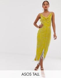 ASOS DESIGN Tall Cowl Neck Midi Dress