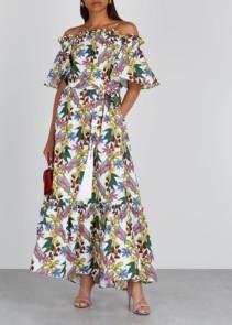 BORGO DE NOR Mona Floral-Print Cotton Maxi Dress