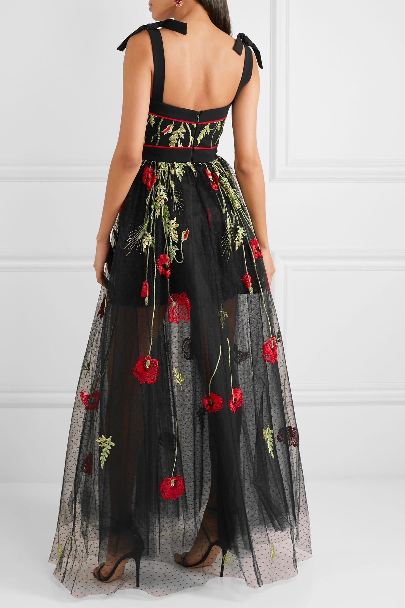Elie Saab Embroidered Swiss Dot Tulle Gown We Select Dresses