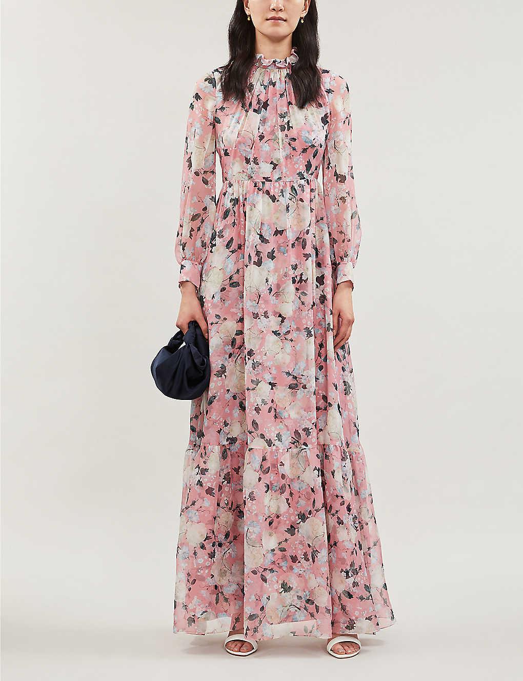 ERDEM Clementine Silk Pink Gown