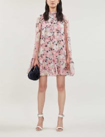ERDEM Constantine Silk Pink Dress
