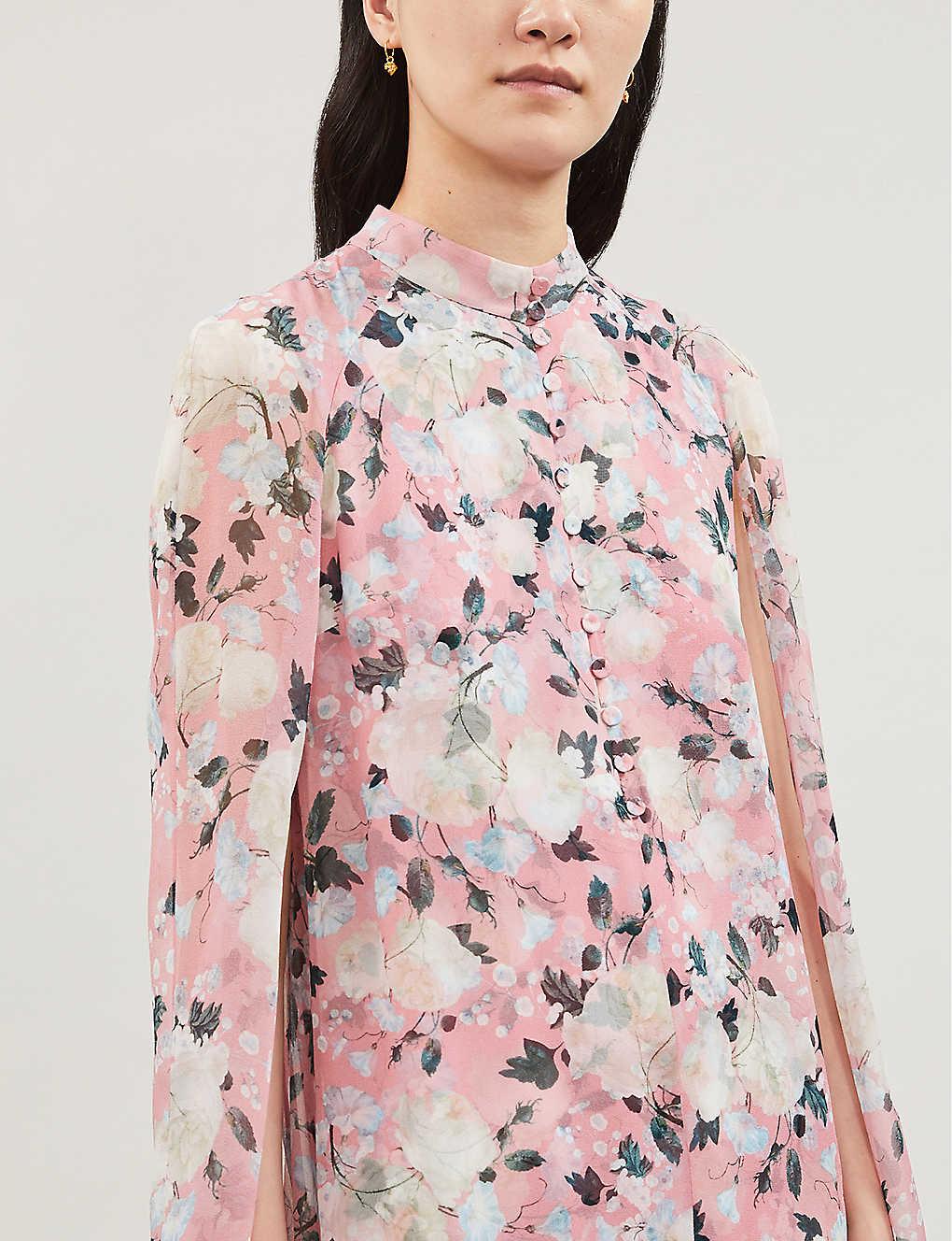 ERDEM Constantine Silk Pink Dress