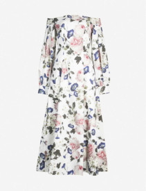 ERDEM Pollina Off-The-Shoulder Cotton White Dress