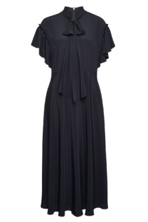 ESCADA Dehnia Silk-Blend Ruffles Blue Dress