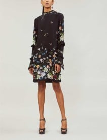 Erdem Manon Silk-crepe Black Dress