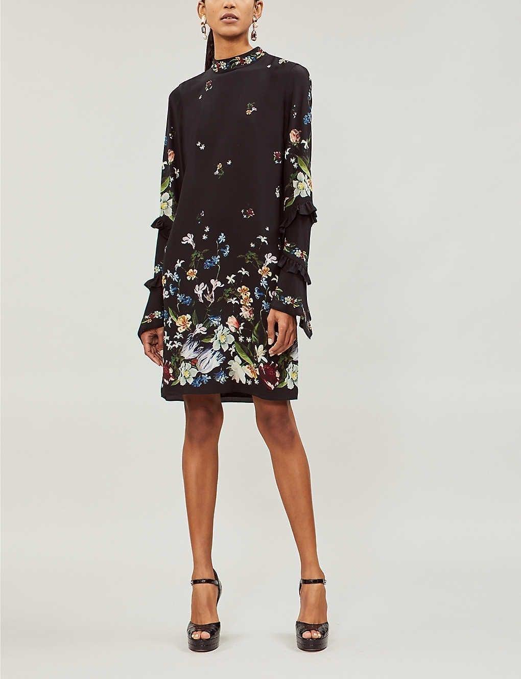Erdem Manon Silk-crepe Black Dress