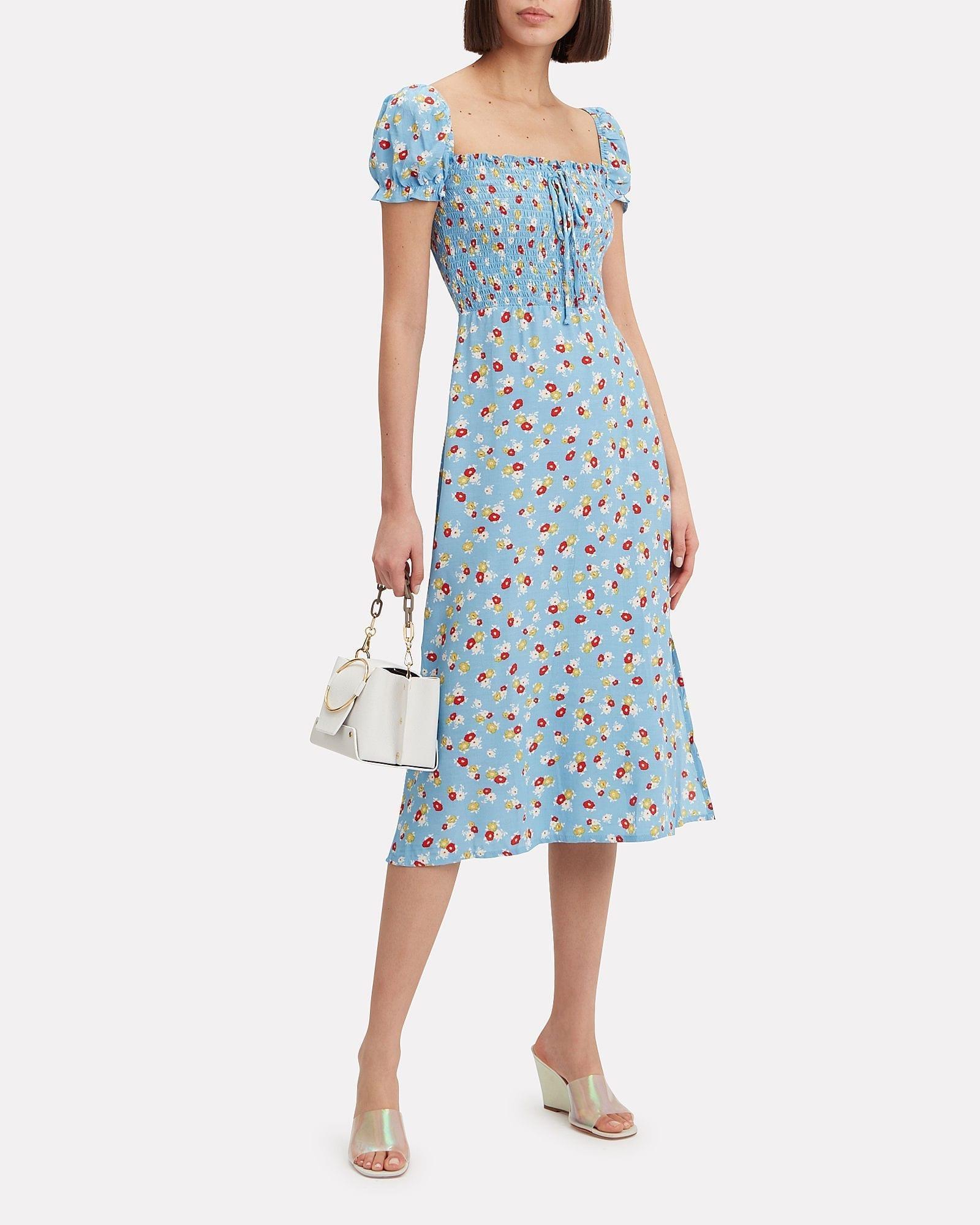 FAITHFULL THE BRAND Jasmine Floral Print Midi Dress