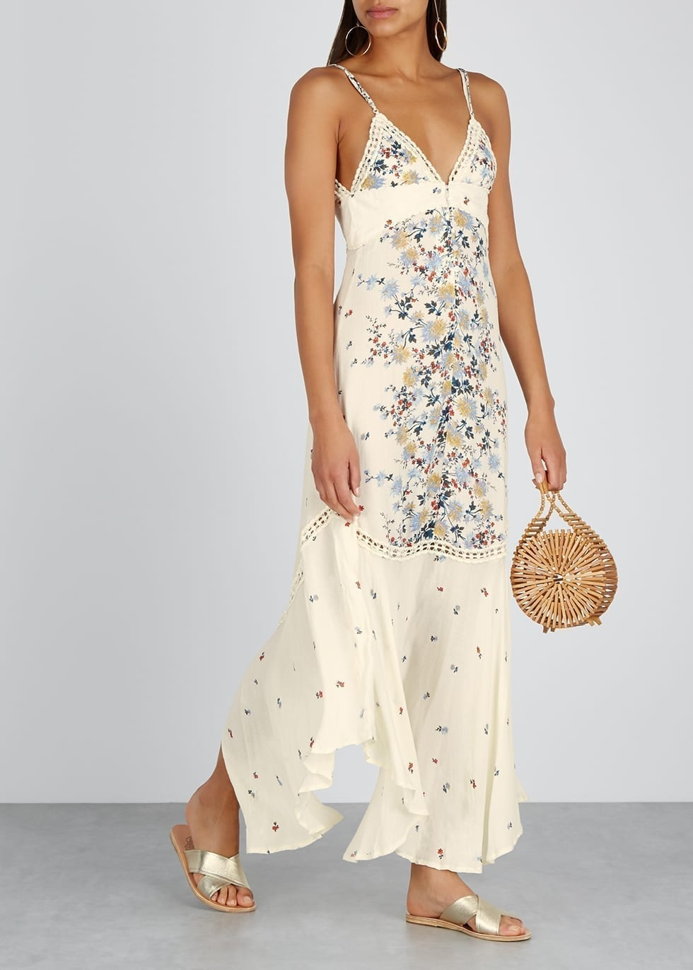 FREE PEOPLE Paradise Floral-Print Maxi Dress