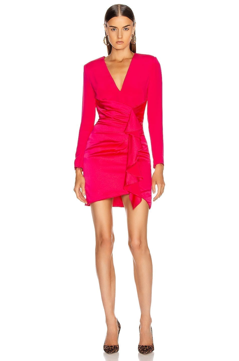 HANEY Lilly Draped Ruffle Dress
