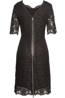 HUGO Kalissy Lace Cotton Black Dress