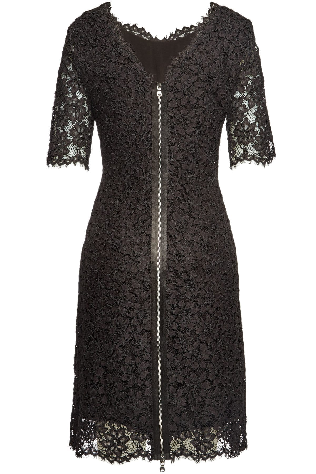 HUGO Kalissy Lace Cotton Black Dress