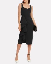 JASON WU COLLECTION Crepe Ruffle Sleeveless Dress