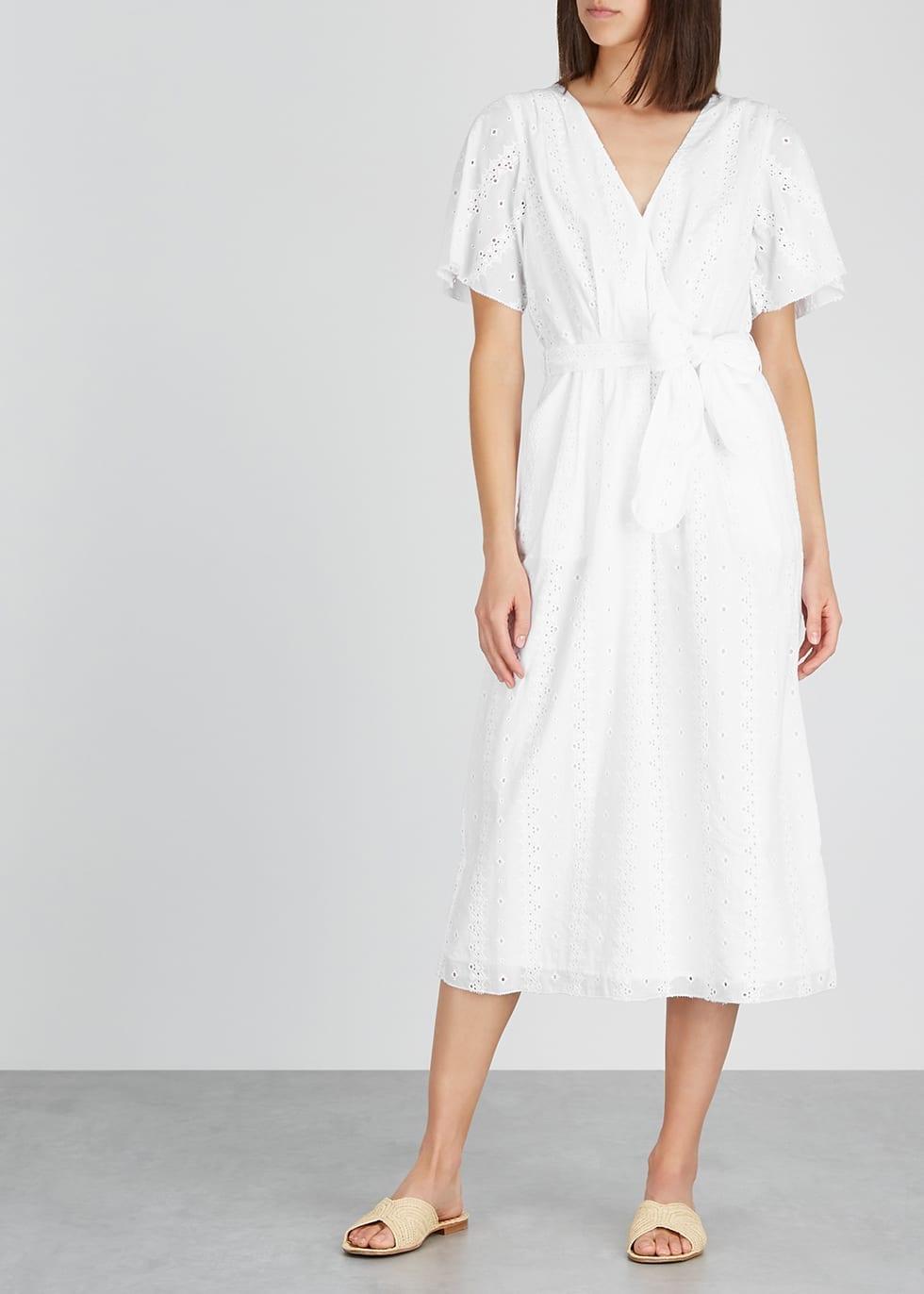 JOIE Azariah Broderie Anglaise Midi Dress