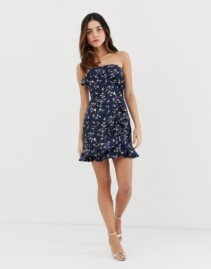 KEEPSAKE Daybreak Mini Navy Dress