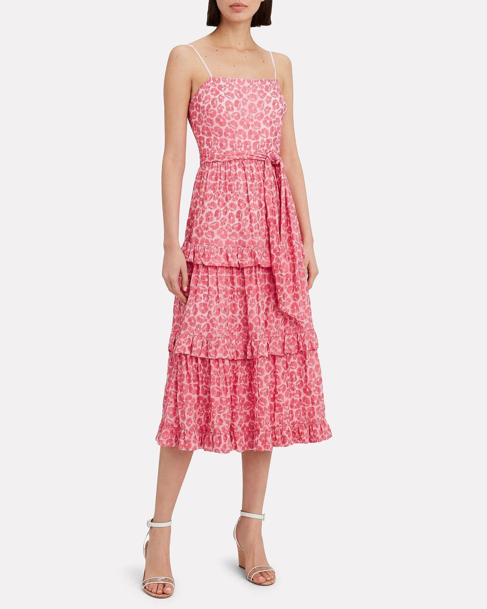 LA MAISON TALULAH Blossom Flounce Midi Dress