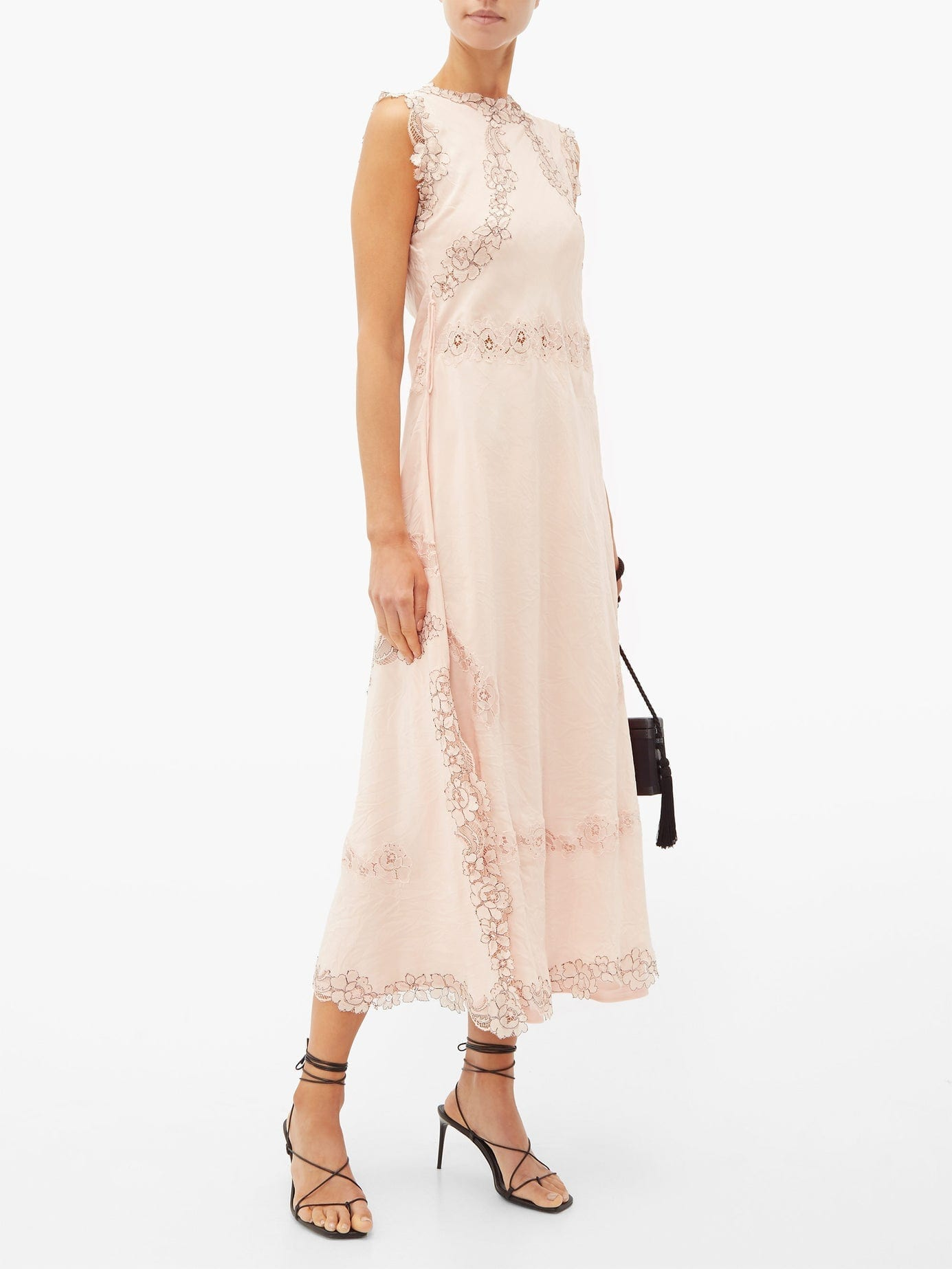 LOEWE Lace-insert Crinkled Dress