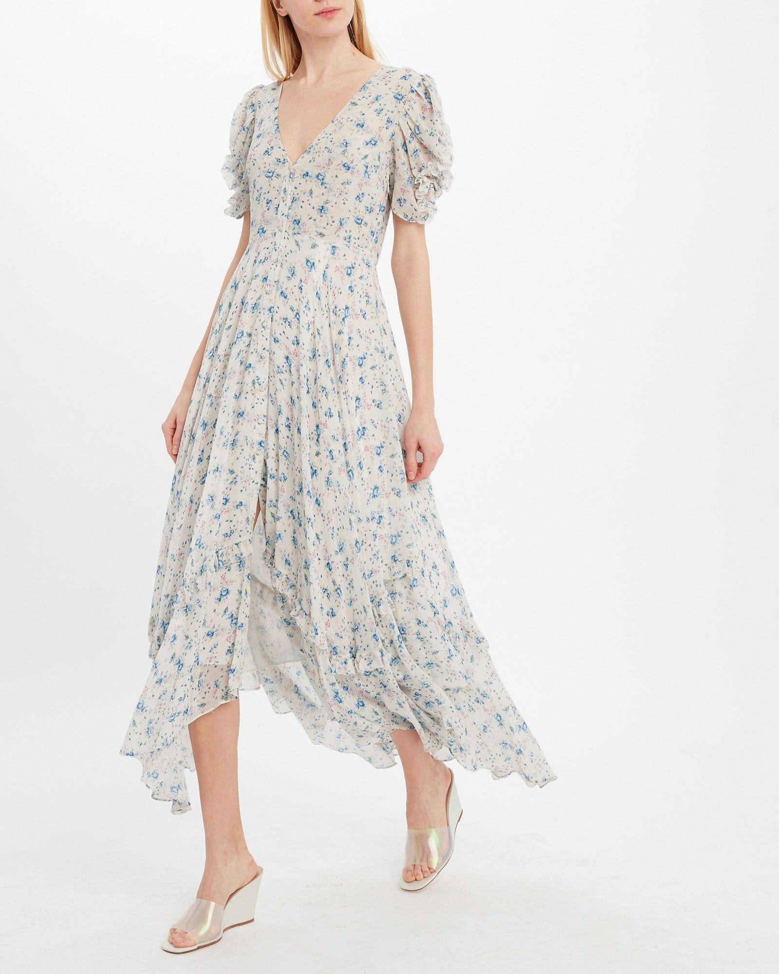 LOVESHACKFANCY Andie Silk Midi Dress