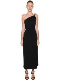 MAX MARA One Shoulder Viscose Crepe Dress
