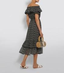 MISA LOS ANGELES Estefania Off-The-Shoulder Midi Dress
