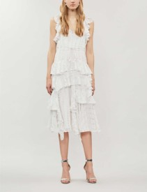 NEEDLE AND THREAD Kalila Love Sleeveless Fil Coupé Ivory Dress