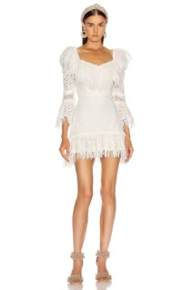 RAISA&VANESSA Ruffled Fringe Mini Dress