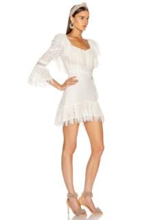RAISA&VANESSA Ruffled Fringe Mini Dress