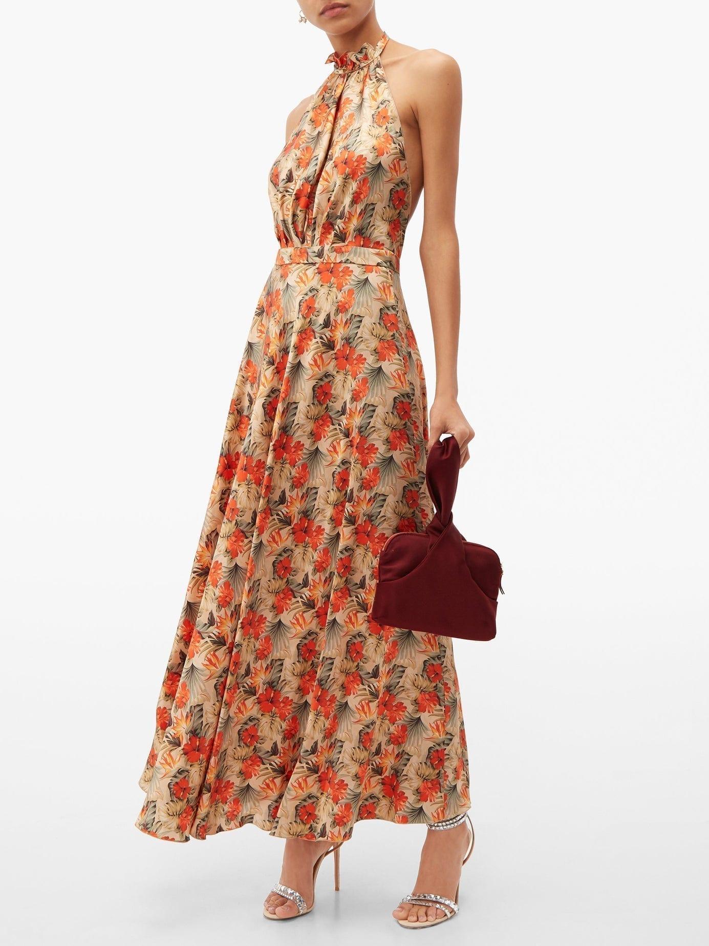 RAQUEL DINIZ Giovanna Floral-print Silk Dress