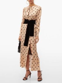RAQUEL DINIZ Teresa Polka Dot-Print Silk Dress