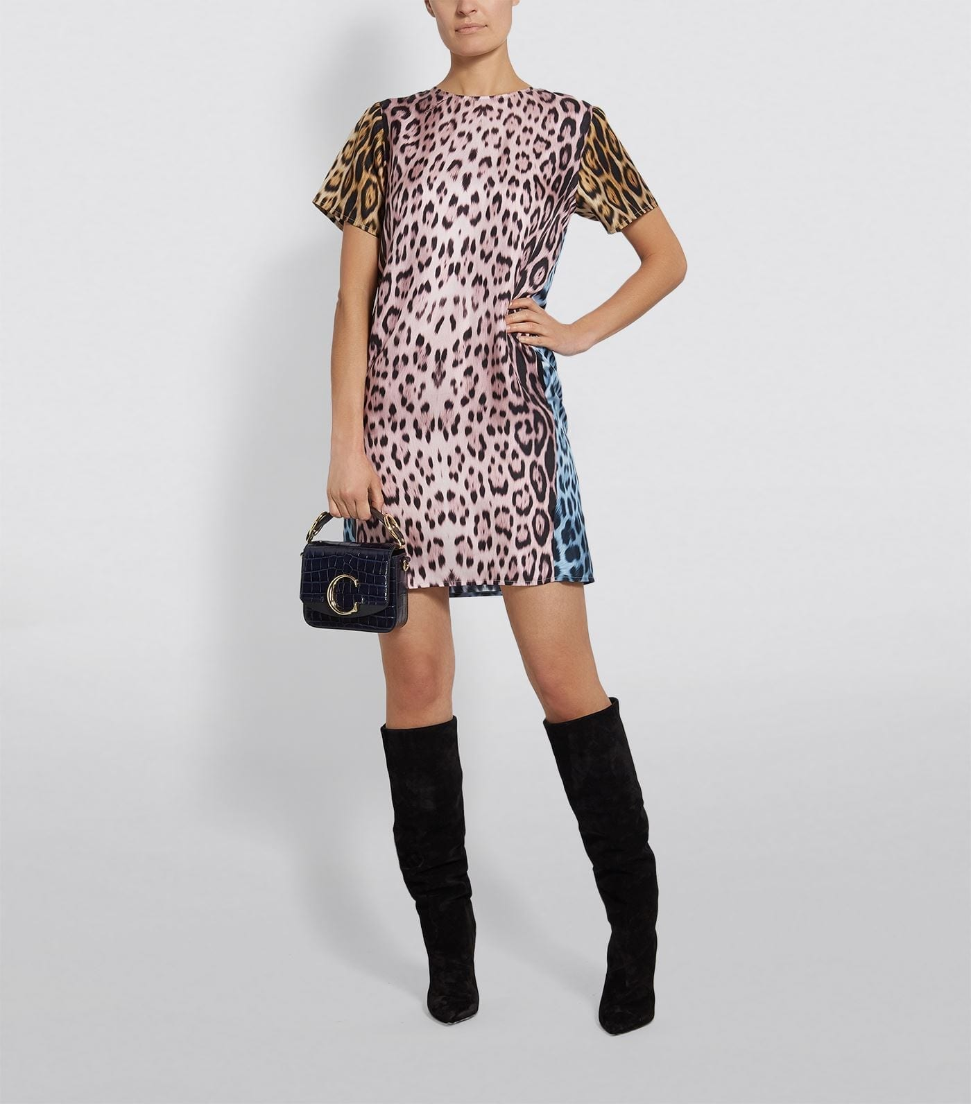 ROBERTO CAVALLI Silk Leopard Print Dress