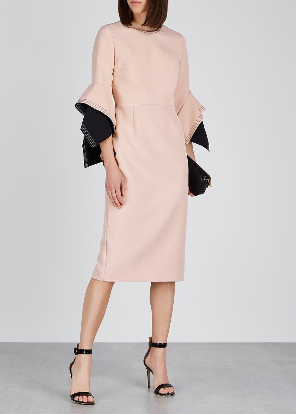 c1c8441484 ROKSANDA Ronda Dusky Pink Origami-sleeve Dress