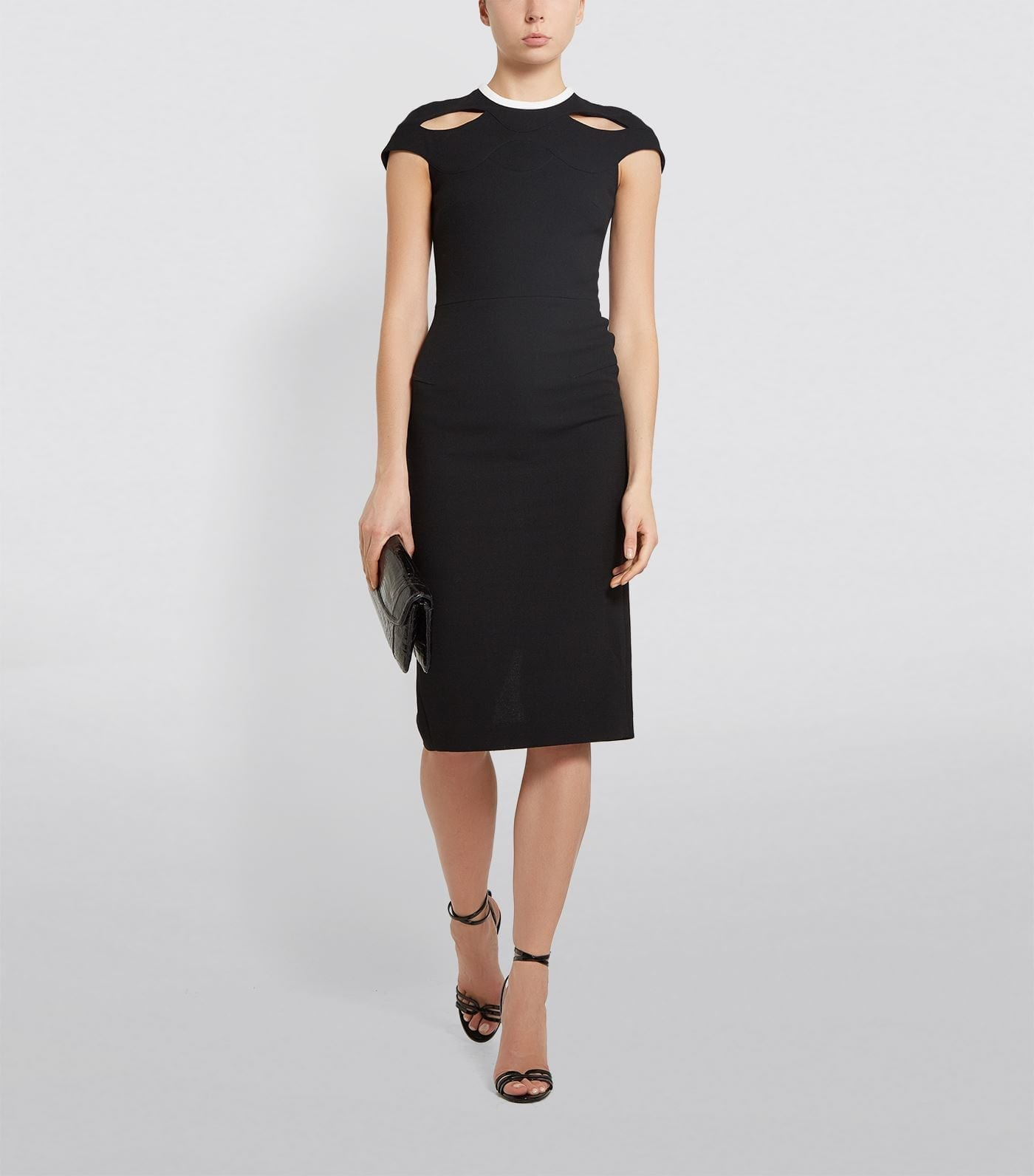 ROLAND MOURET Cut-Out Talland Pencil Dress
